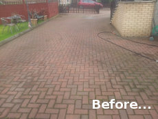 Driveway Cleaning Glasgow (Clydebank) Before