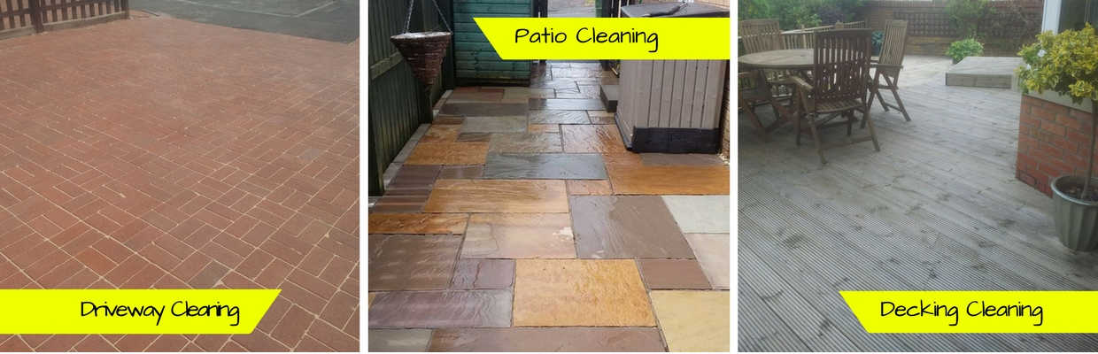 Patio, decking and driveway cleaning in Glasgow