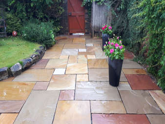 Patio Cleaning in Glasgow | Sandstone Patio